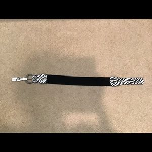 Nine West Zebra Patterned Belt